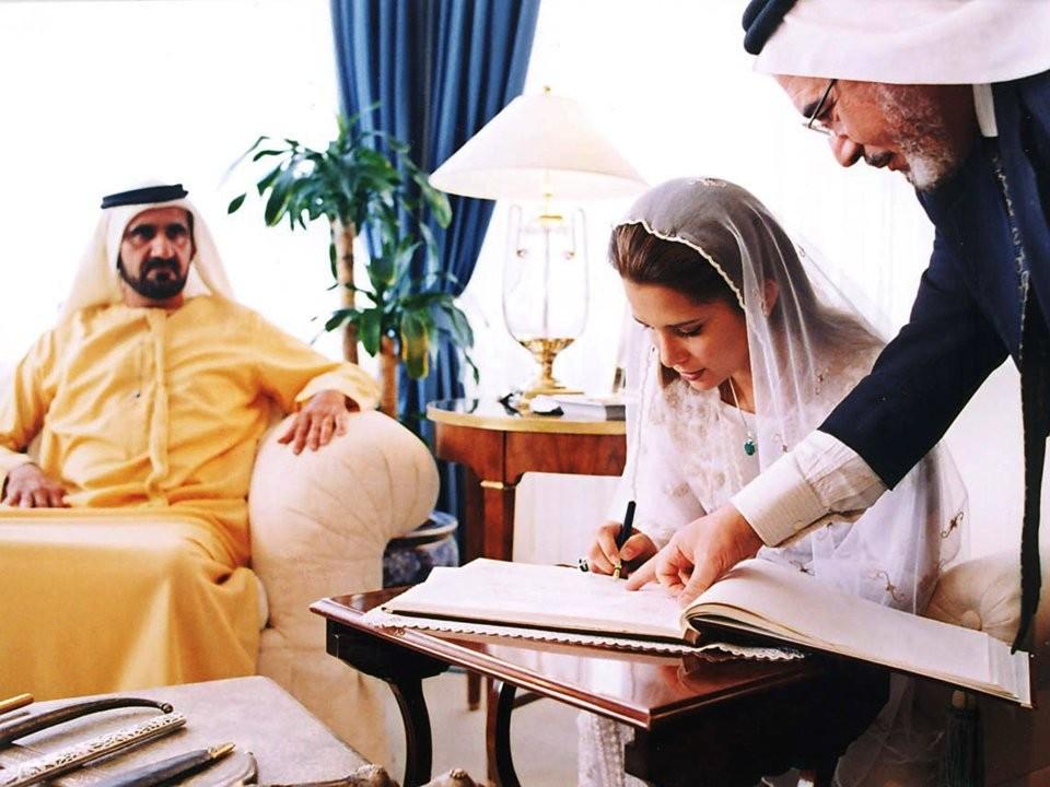 زواج الأميرة هيا بنت الحسين من الشيخ محمد بن راشد