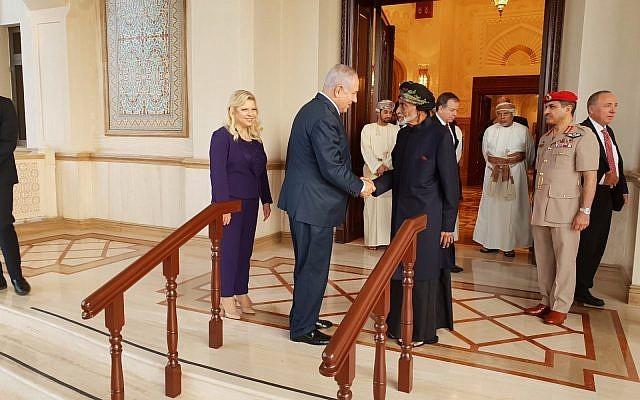 رئيس وزراء الاحتلال الإسرائيلي بنيامين نتنياهو أثناء زيارته إلى عمان