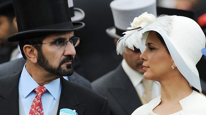 الأميرة هيا بنت الحسين برفقة زوجها حاكم دبي الشيخ محمد بن راشد