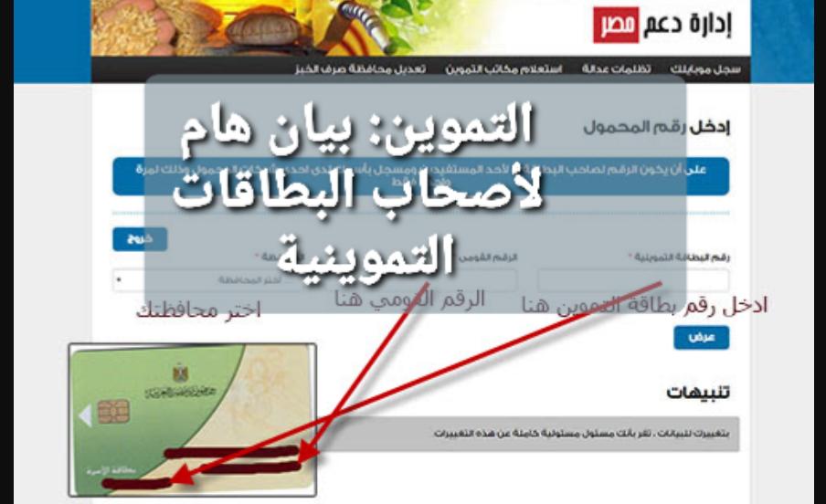 """""""ادخل الآن""""رابط موقع دعم مصر 2020 الكترونياً تحديث بيانات بطاقات""""التموين""""موقع وزارة التموين tamwin.com.eg"""
